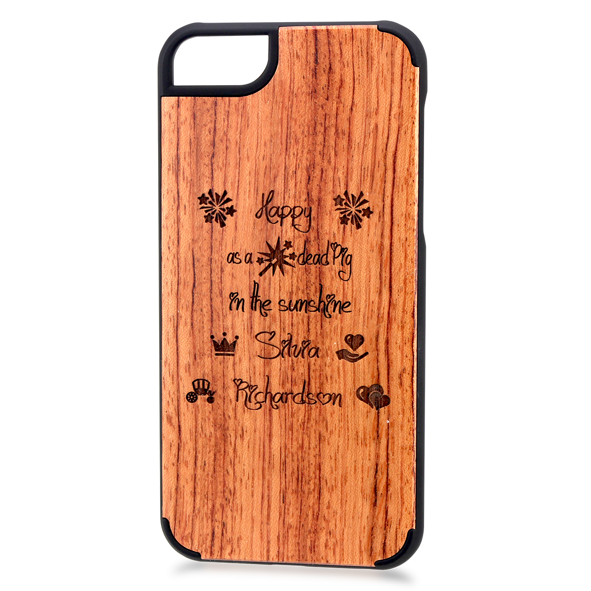 handy cover iphone 6 aus holz mit gravur. Black Bedroom Furniture Sets. Home Design Ideas