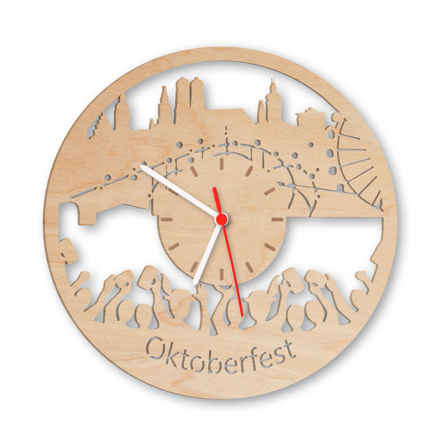 wanduhr aus holz oktoberfest 2017 einfach pers nlich schenken. Black Bedroom Furniture Sets. Home Design Ideas