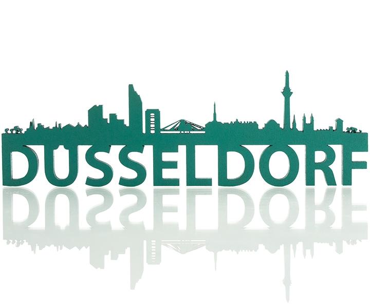Skyline Düsseldorf Deko Motiv Gravurzeilede Gravurzeilede