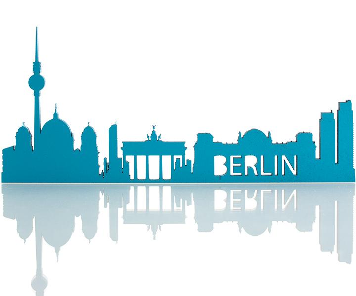 Skyline Berlin Deko Motiv Gravurzeile