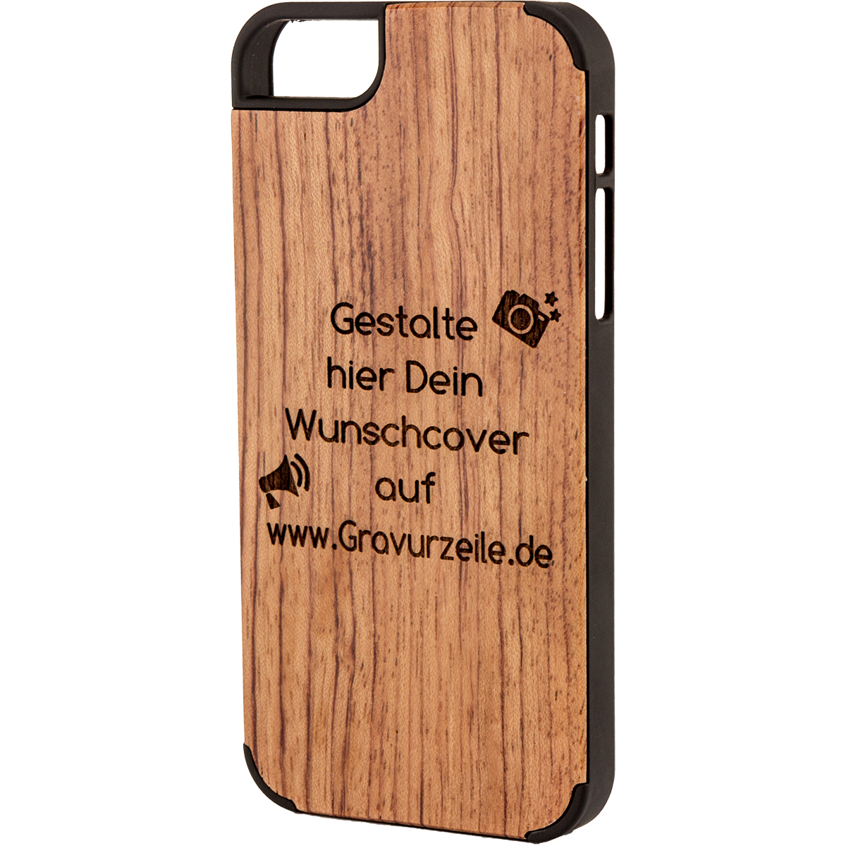 handy cover iphone 5 aus holz mit gravur einfach pers nlich. Black Bedroom Furniture Sets. Home Design Ideas