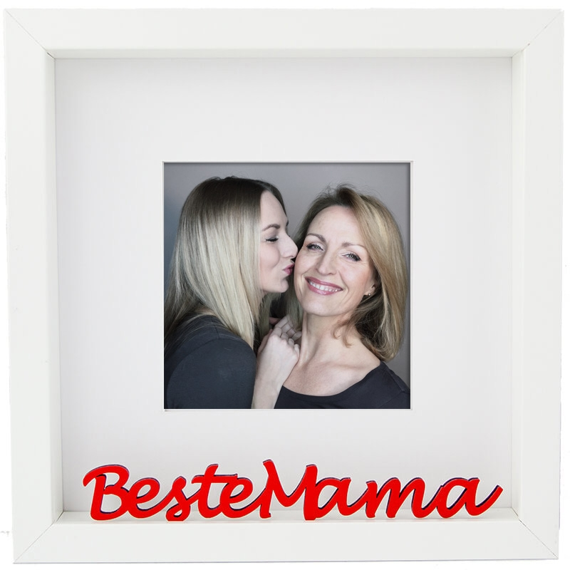 Beste Mama Deko Schriftzug mit Fotorahmen   GRAVURZEILE.de ...