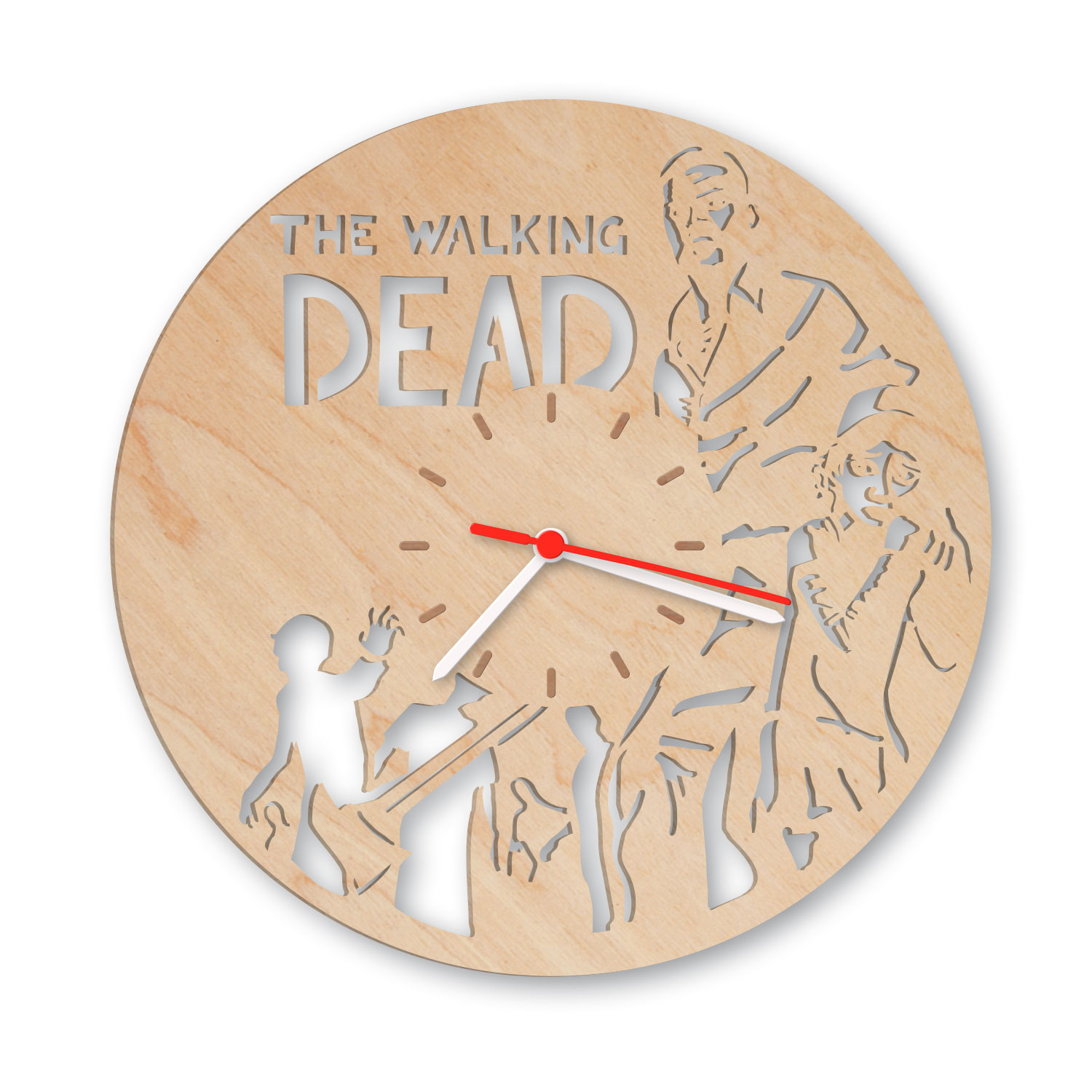 wanduhr aus holz the walking dead einfach pers nlich schenken. Black Bedroom Furniture Sets. Home Design Ideas